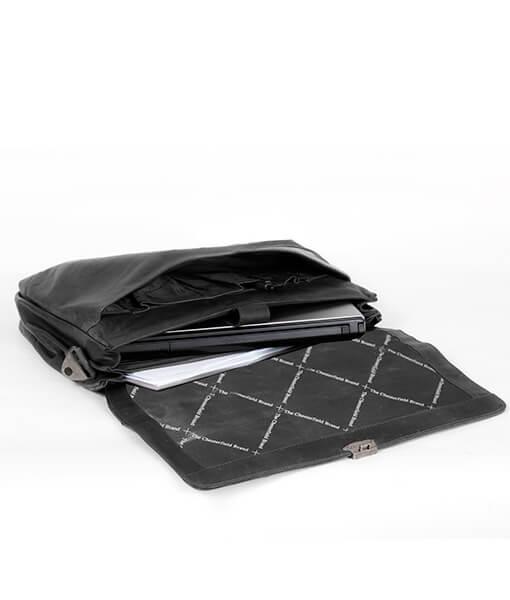 Chesterfield Serviette / Sac À Bandoulière Avec Un Ordinateur Portable Georges A4 Noir TC4mx5