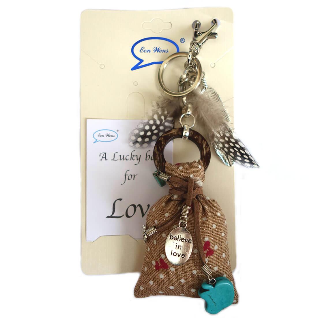 A Lucky Bag for Love Tas / Sleutelhanger Bruin-0