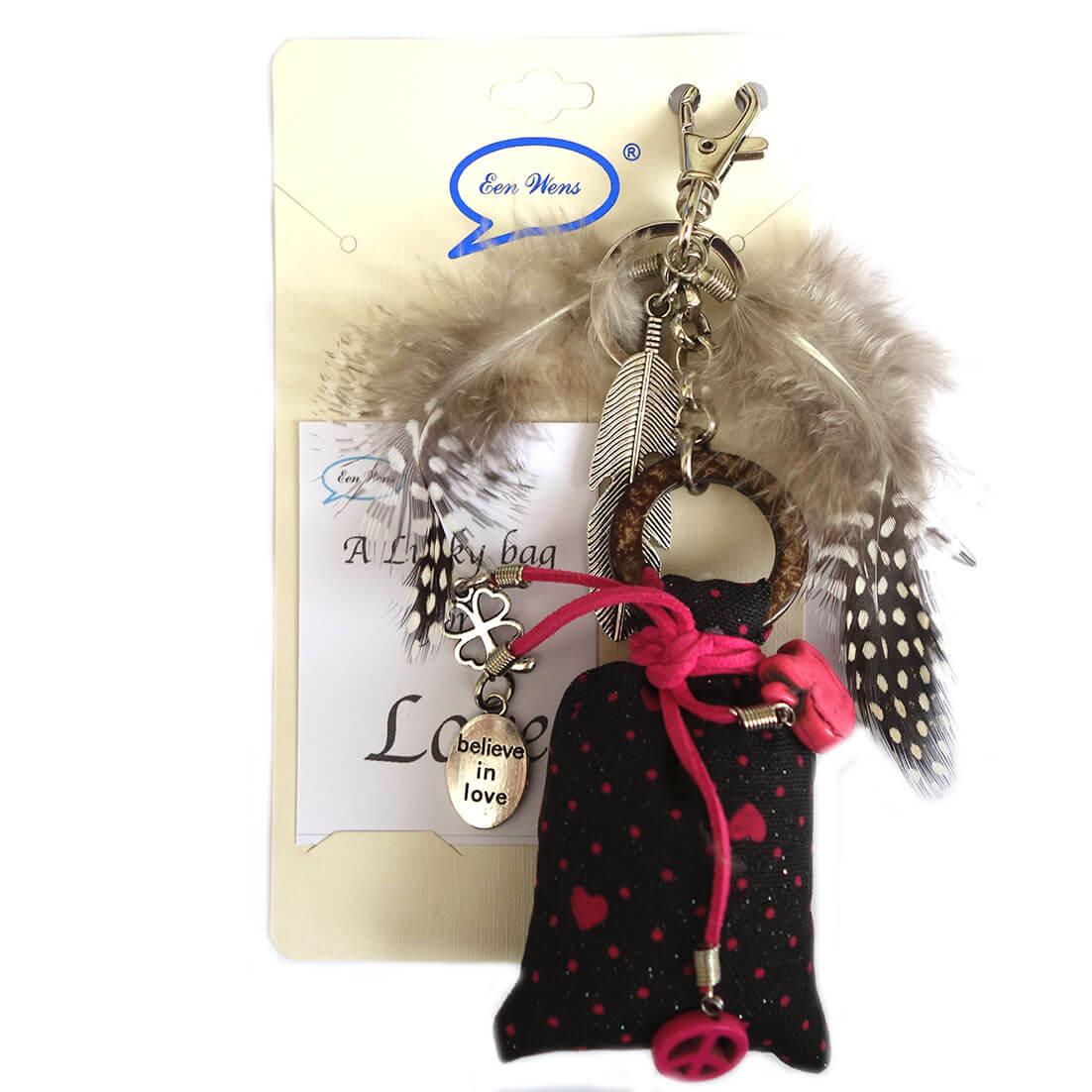 A Lucky Bag for Love Tas / Sleutelhanger Zwart -0