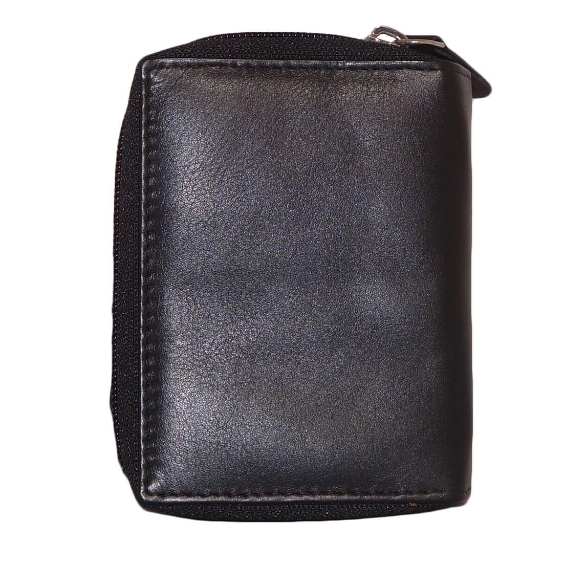 e97cfa8ff68 Leather Design Portemonnee met Secrid Cardprotector Vak en Ritsvak  Zwart-15244 ...