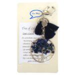 Tas/Sleutelhanger Tree of Life Lapis Lazuli-0