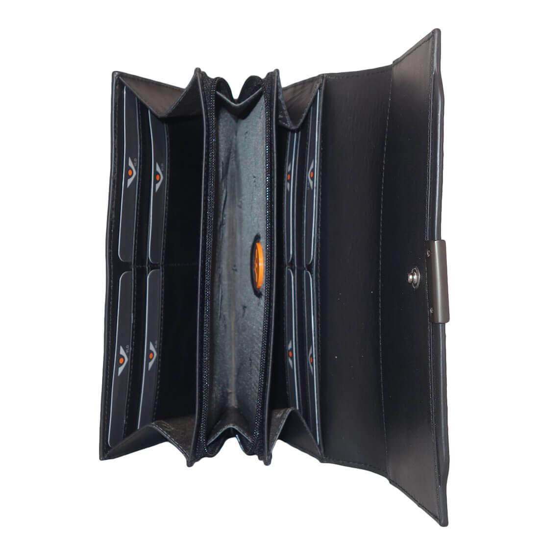 Zwarte Dames Portemonnee.Voi Dames Portemonnee Met Overslag Zwart Online Kopen