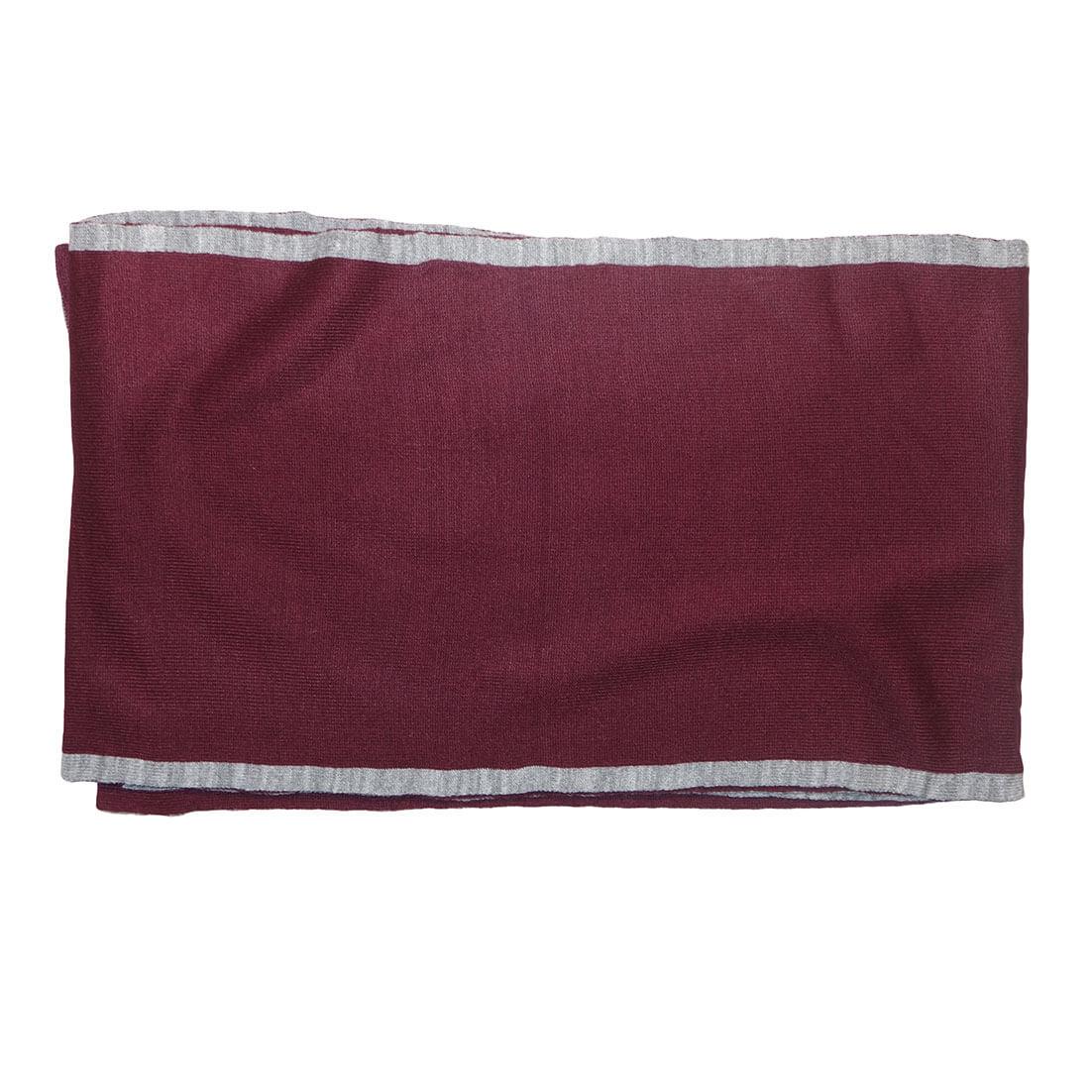 Gebreide Winter Sjaal Bordeaux / Grijs -17527