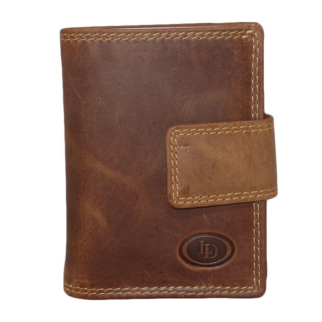 Leather Design Portemonnee met Ritsvakje en Secrid Cardprotector Vak Bruin-17623