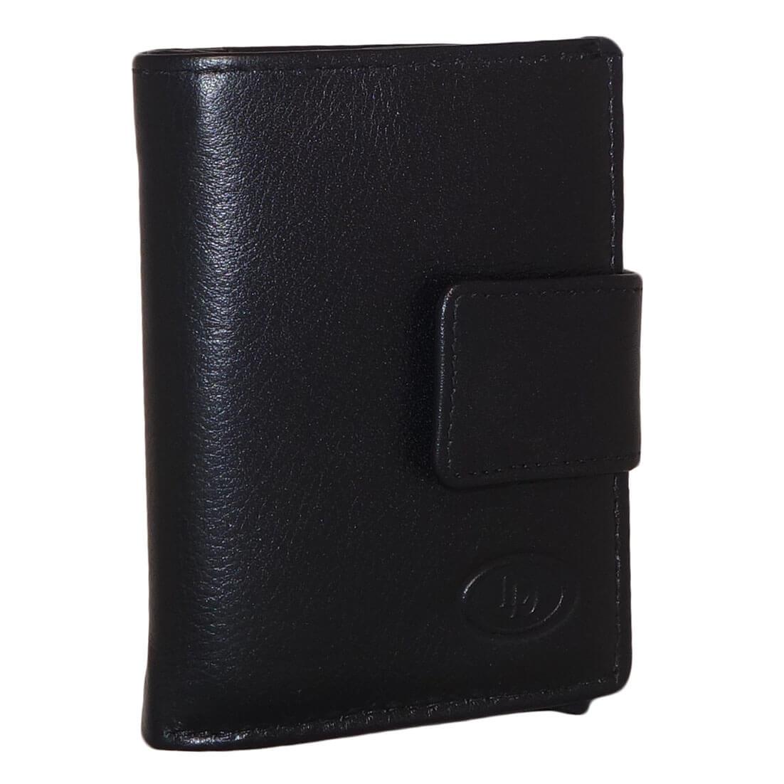 Leather design portemonnee met kaarthouder vak zwart kopen for Porte zen fiber