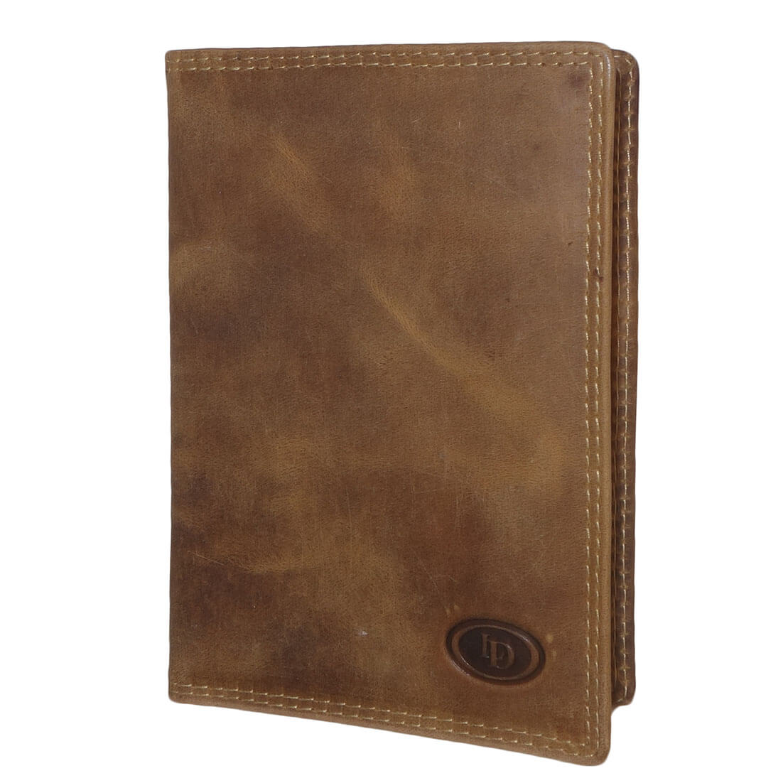 Leather Design Paspoort Etui Cognac-0