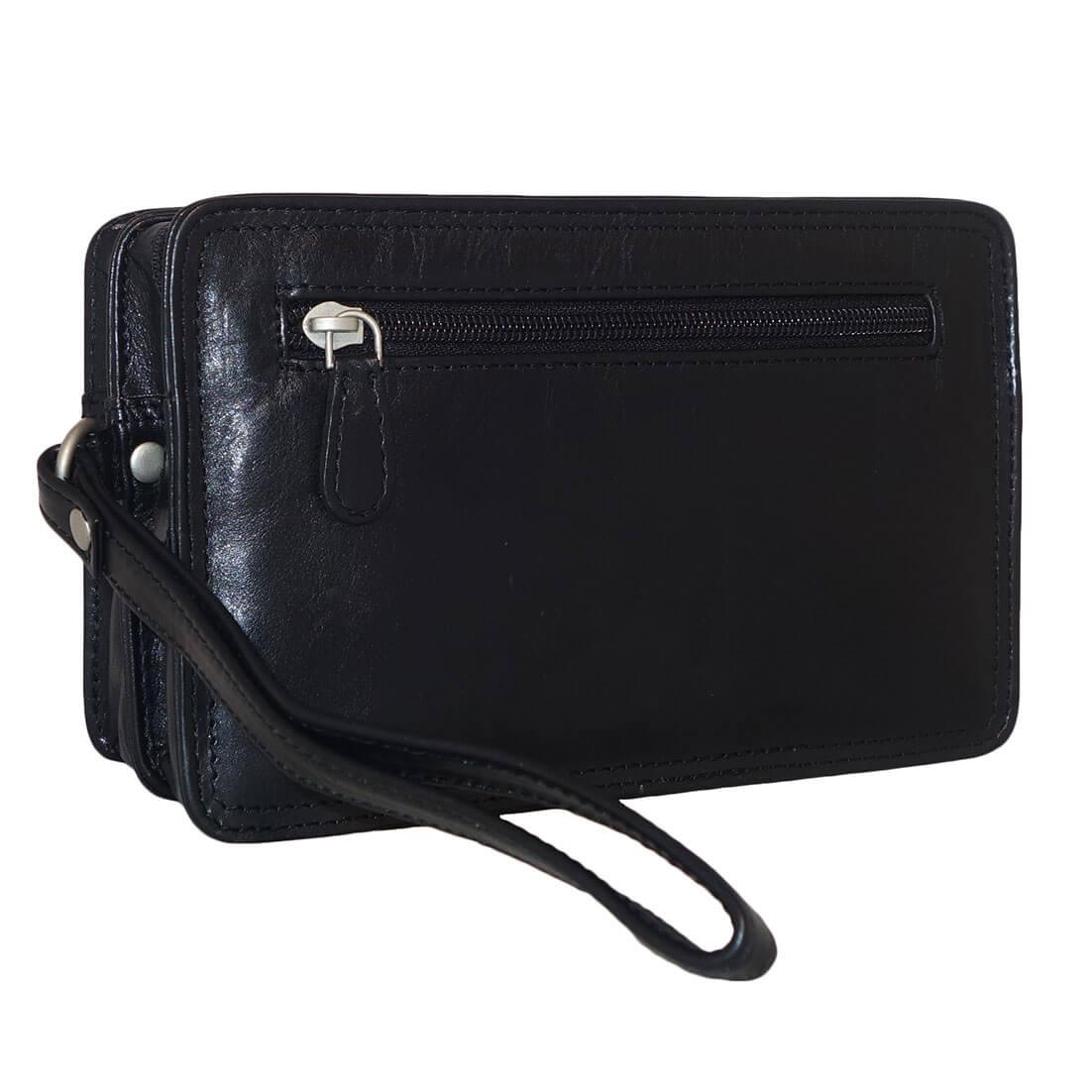 Leather Design Leren Polstas Zwart 4 Vaks-0
