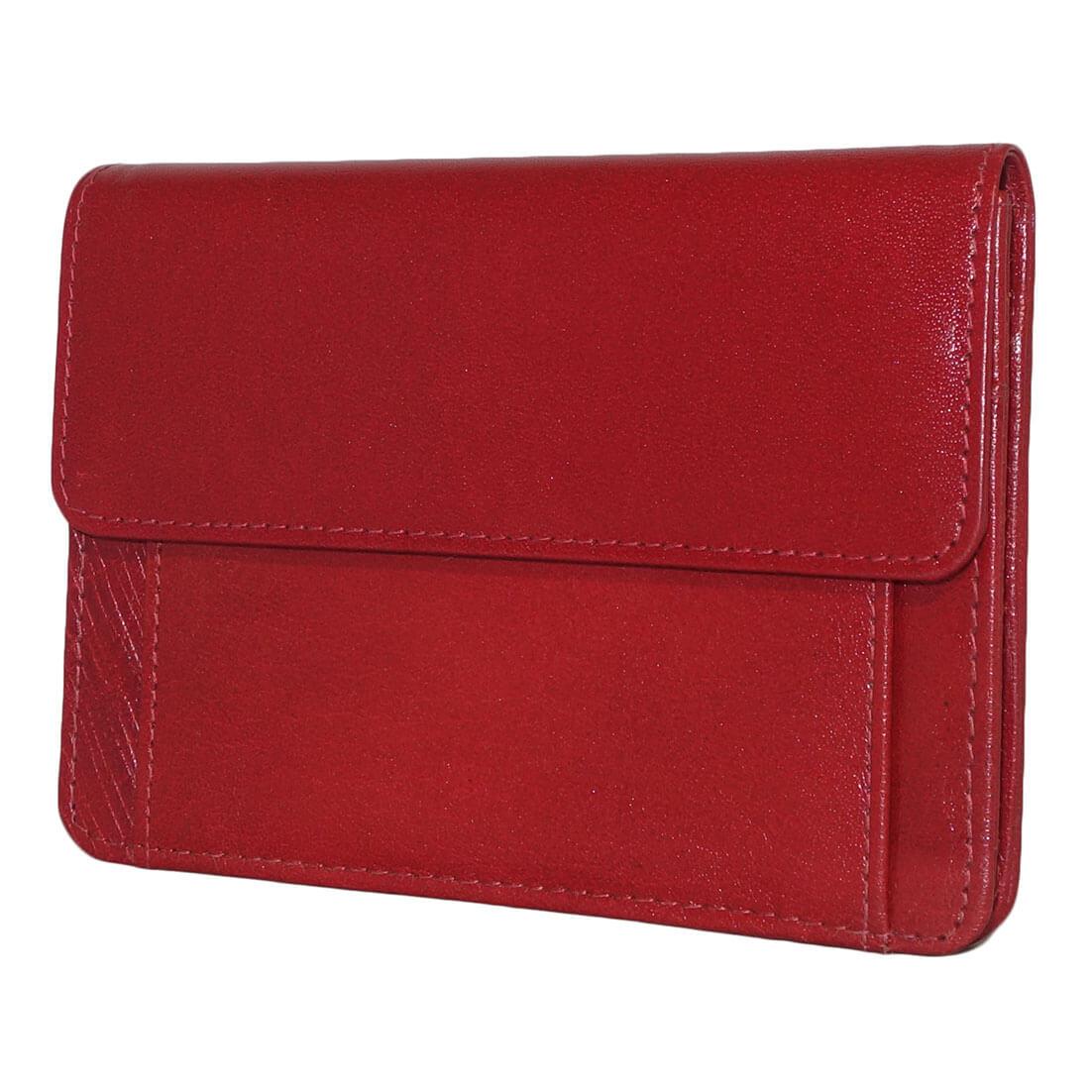 Leather Design Mobiel Tasje Rood-0