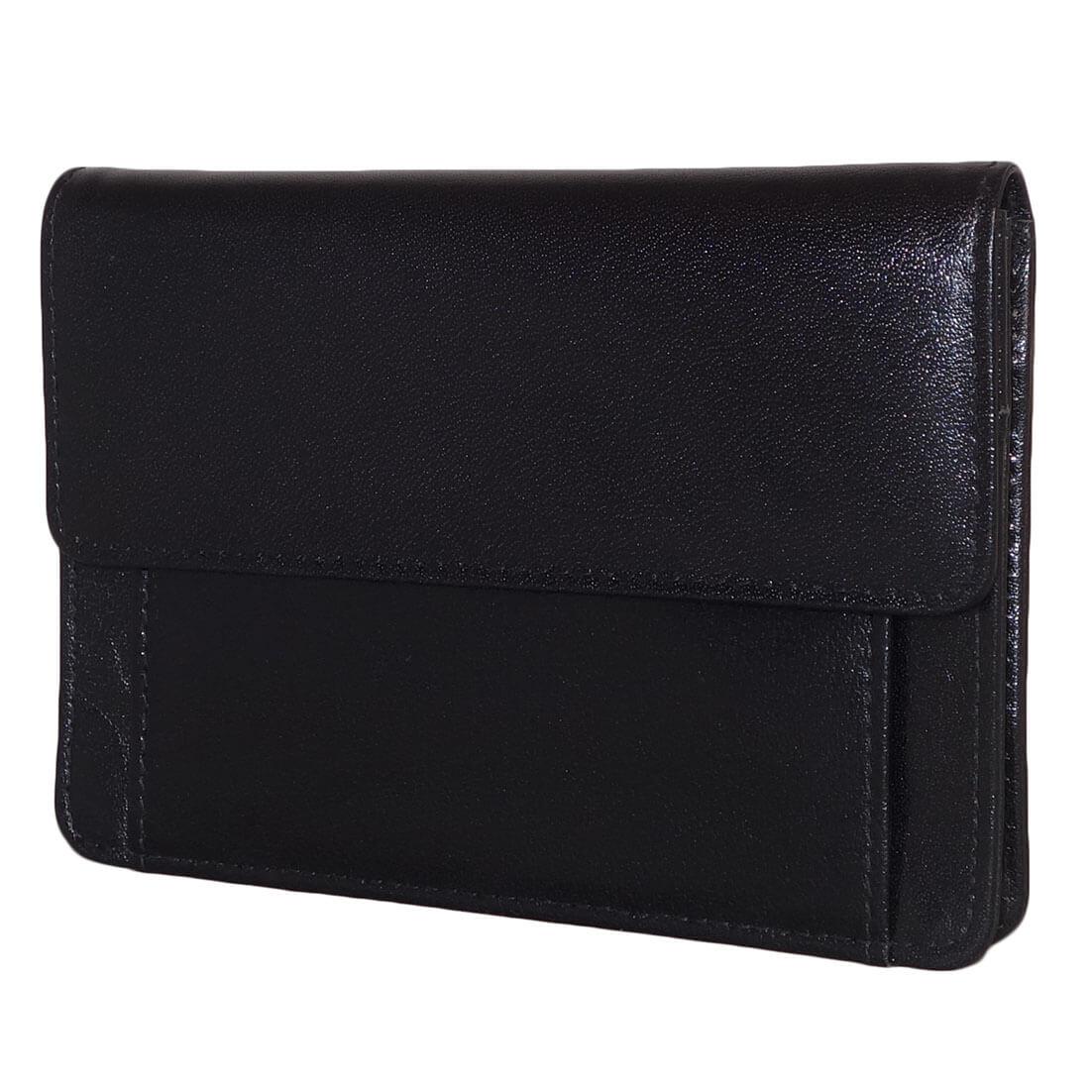 Leather Design Mobiel Tasje Zwart-0