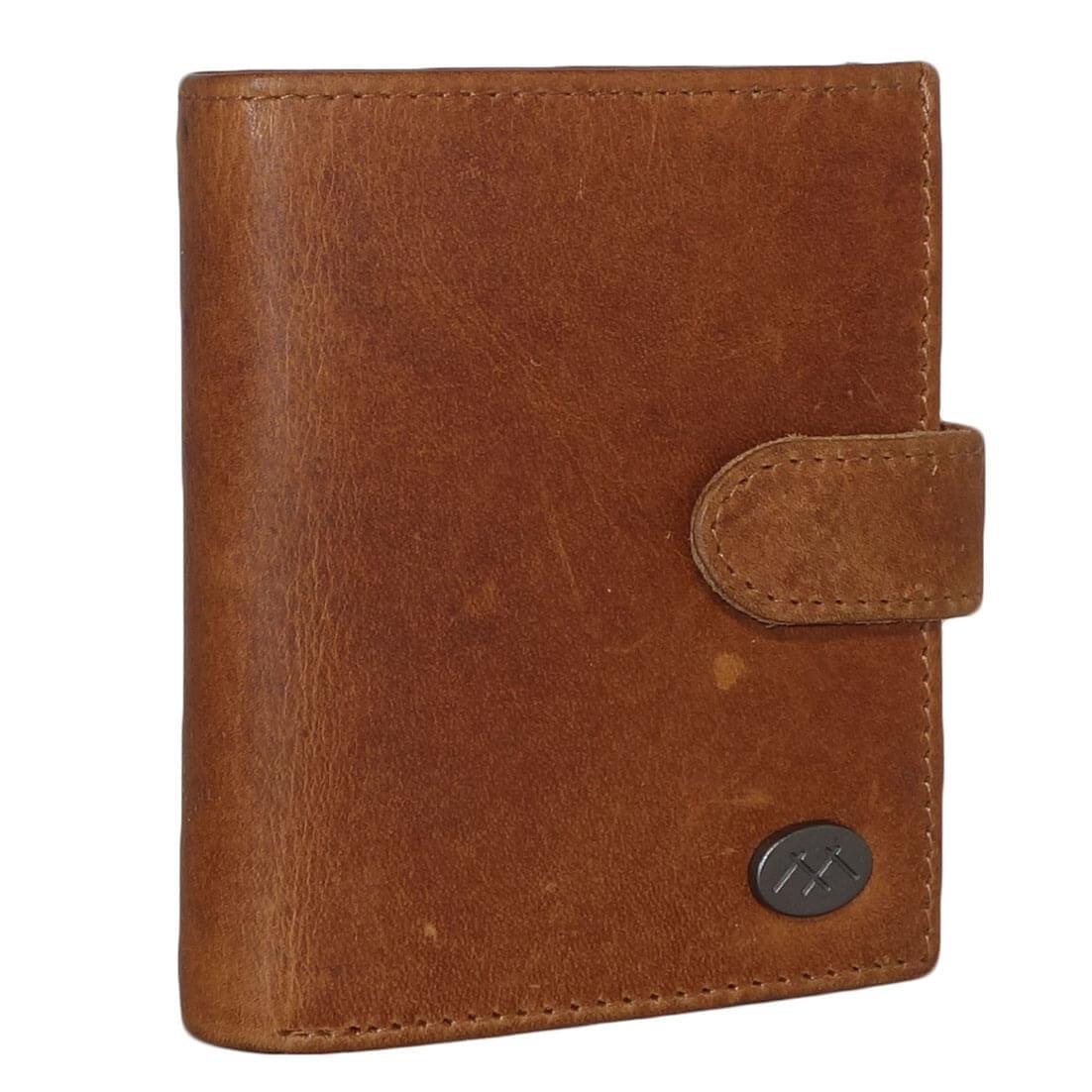 MicMacbags RFID Pasjeshouder met Drukknoop Cognac-0