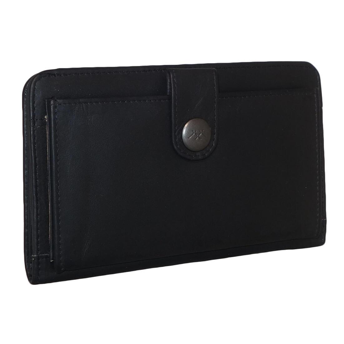 4a442909a48 ... MicMacbags RFID Portemonnee met Smartphone Vak Zwart-19338 ...