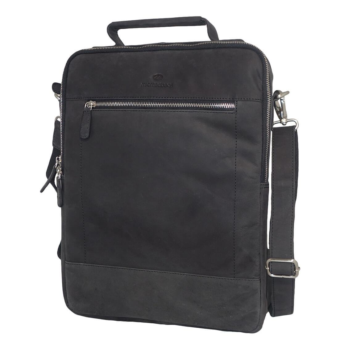 MicMacbags Laptop Rugzak / Schoudertas Zwart-0