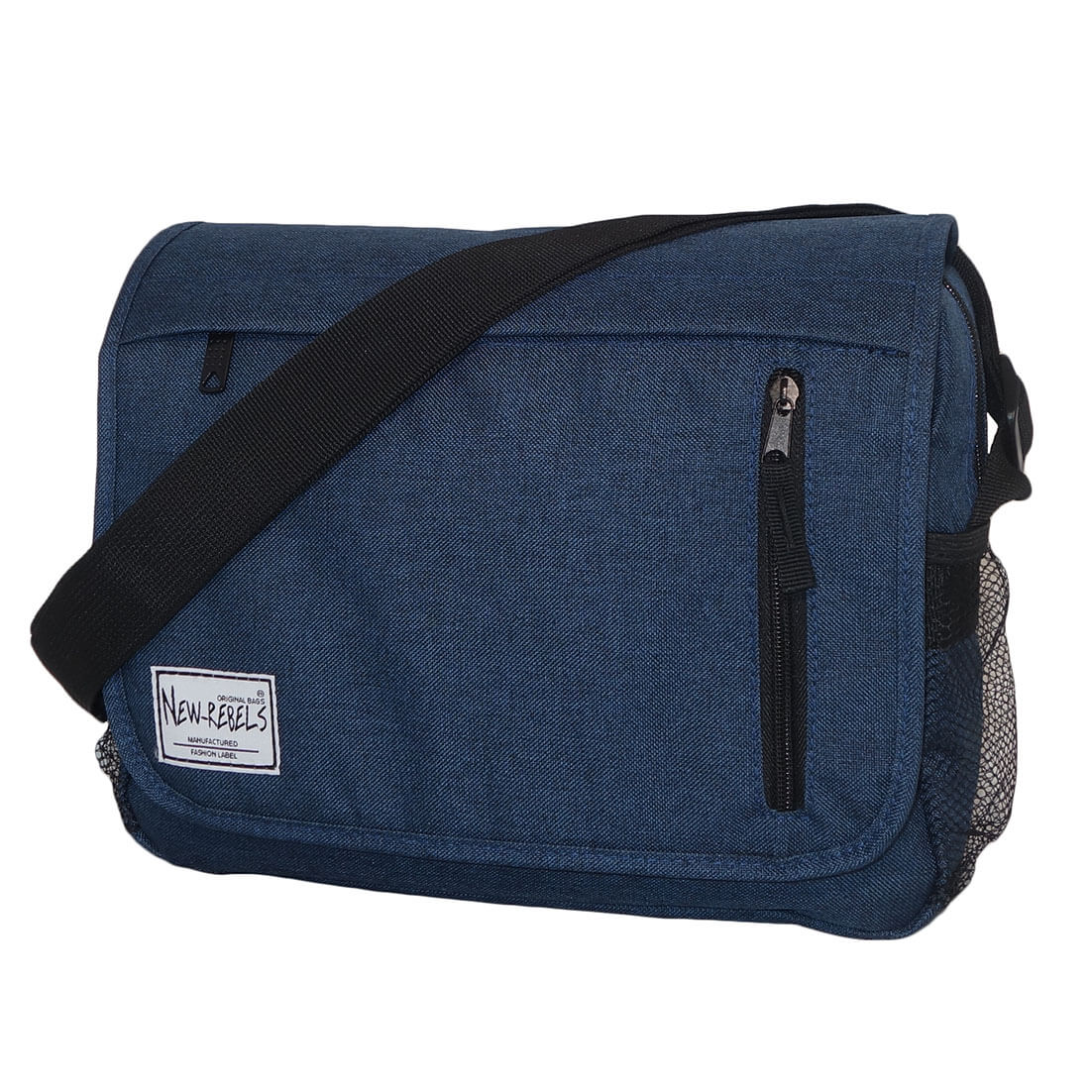 New Rebels Schoudertas met Overslag Basic Plus Blauw-0