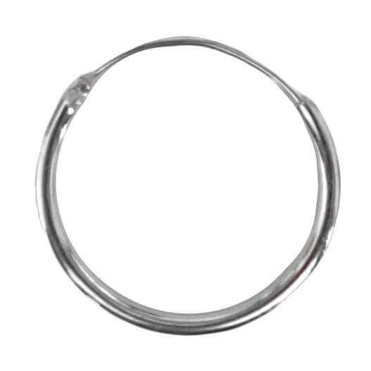 Oorring Hoops Echt Zilver 12mm-0