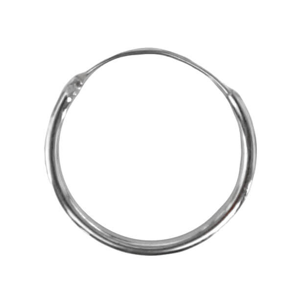 Oorring Hoops Echt Zilver 8mm-0
