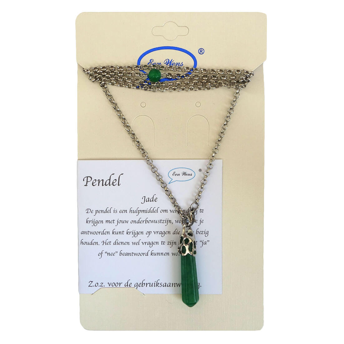 Lange Pendel Ketting Jade-0