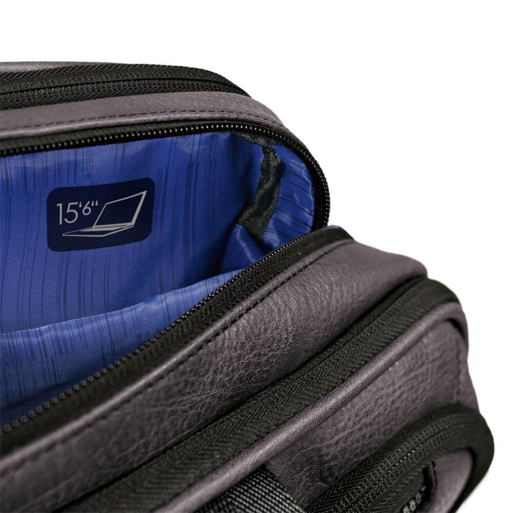 Schoudertas Met Laptopvak 15 6 Inch : Gabol studio schoudertas met laptopvak grijs
