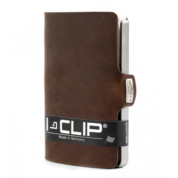 I-Clip Wallet Kaarthouder Soft Touch Bruin-21222
