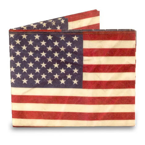 Mighty Wallet Billfold Portemonnee Amerikaanse Vlag Stars and Stripes-21016