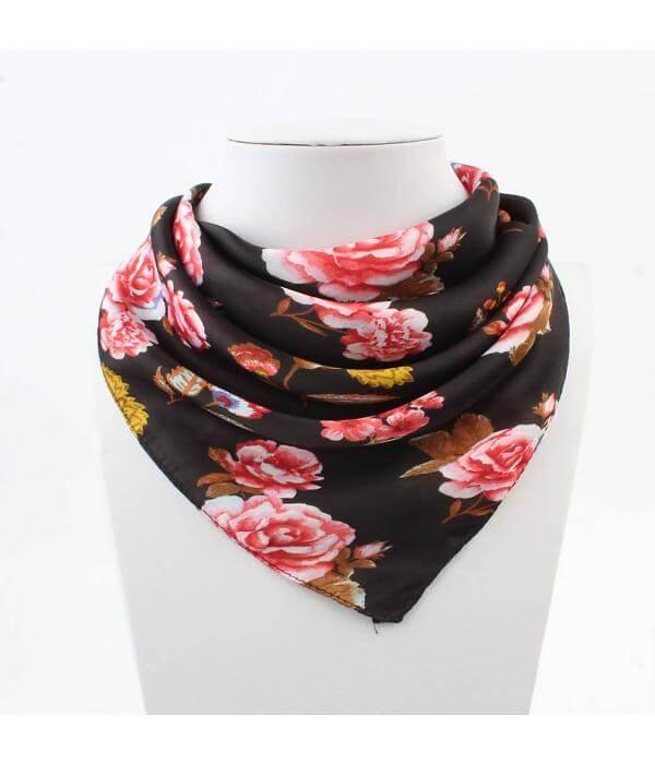 Bandana Roses Zwart-0