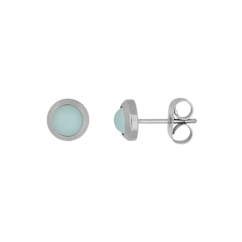 iXXXi Oorbellen Mat Mint Groen Zilver-0