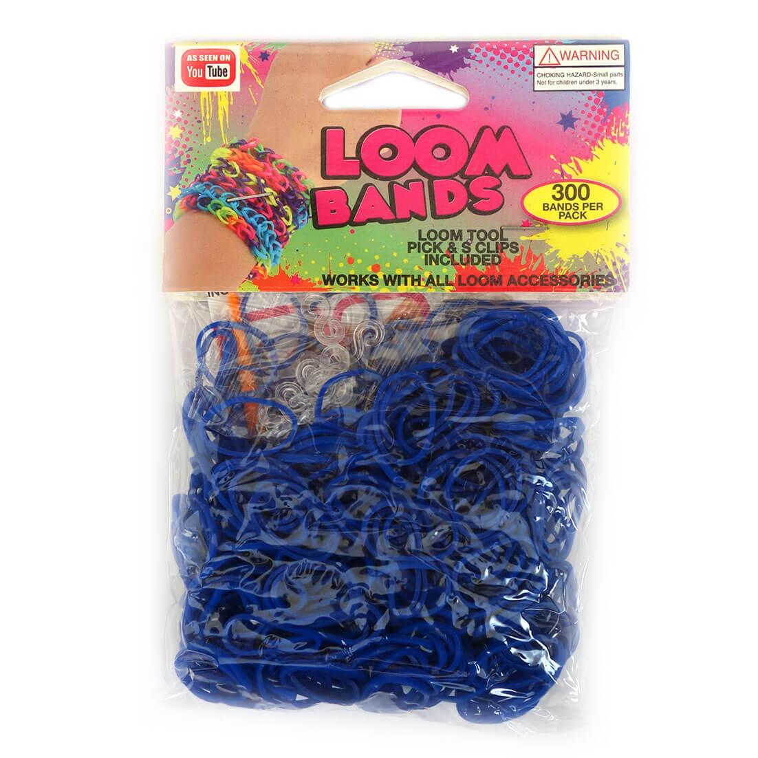 Loom Zakje met 300 Donker Blauwe Elastiekjes en 11 S-Clips-0