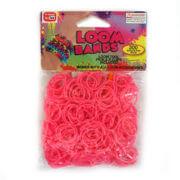 Loom Zakje met 300 Roze Elastiekjes en 11 S-Clips