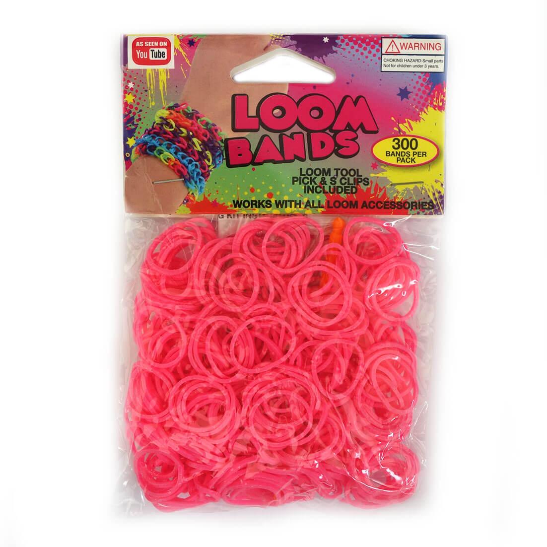 Loom Zakje met 300 Roze Elastiekjes en 11 S-Clips-0