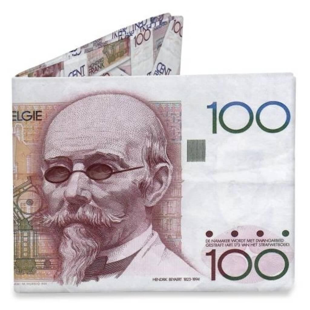 Mighty Wallet Billfold Portemonnee 100 Belgische Frank Hendrik Beyeart-0