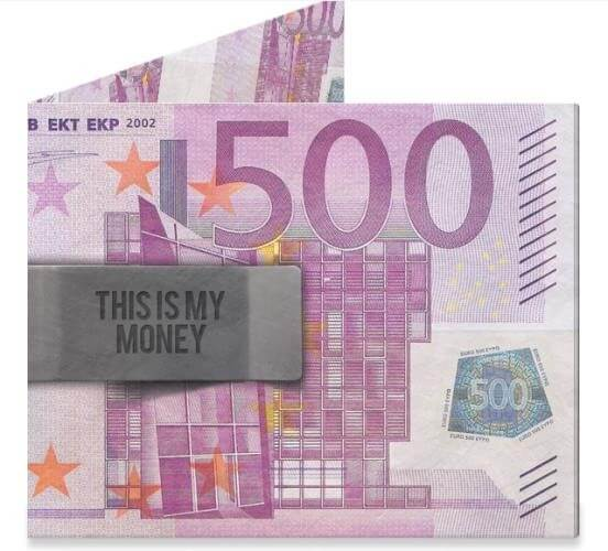 Mighty Wallet Billfold Portemonnee 500 Euro-0