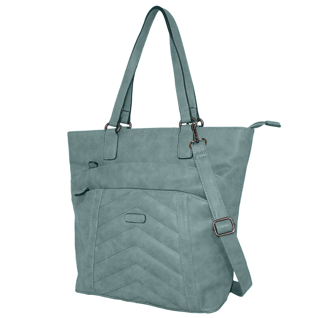 Piace Molto Shopper / Schoudertas Lisa Turquoise-0
