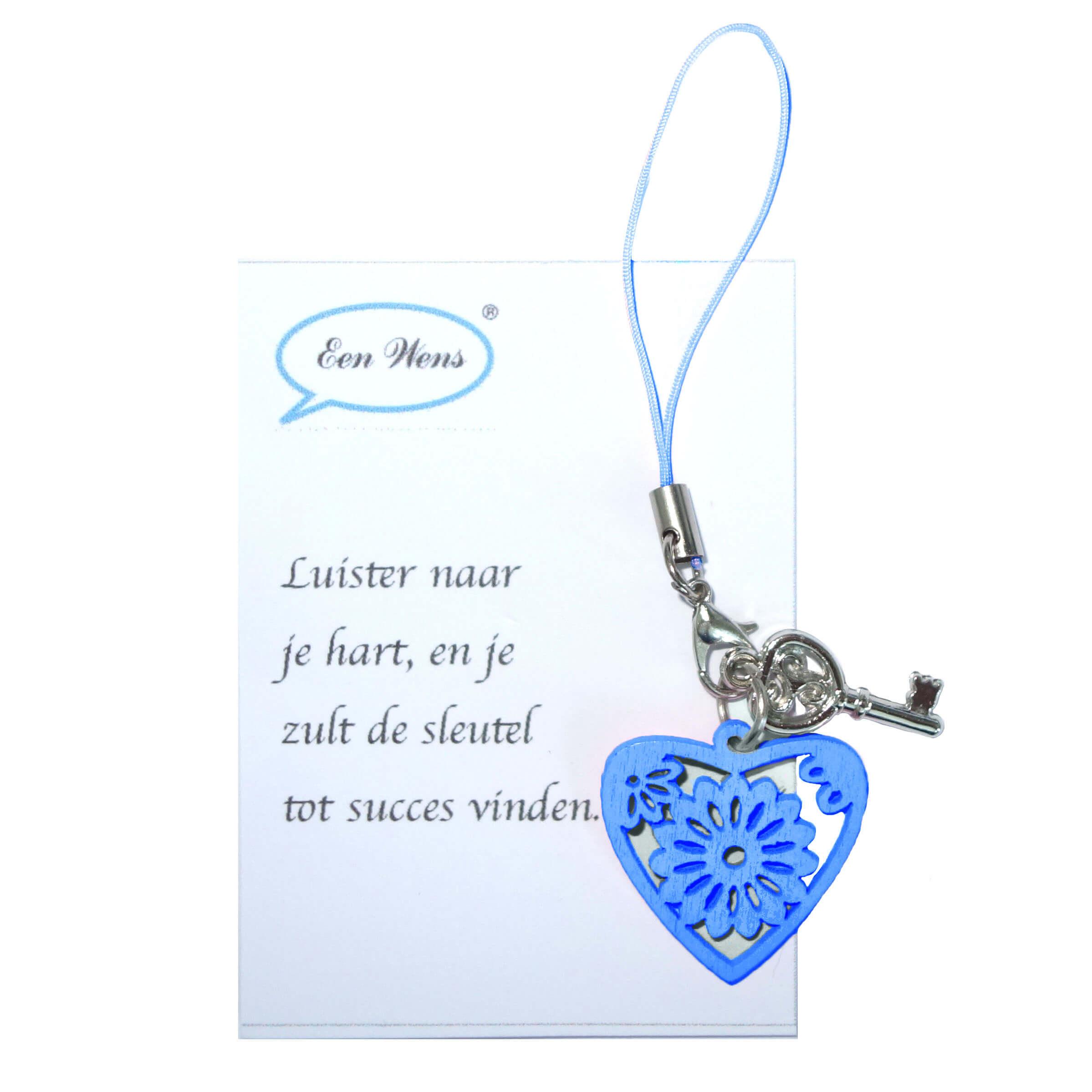 Gelukshanger Hartje Blauw-0