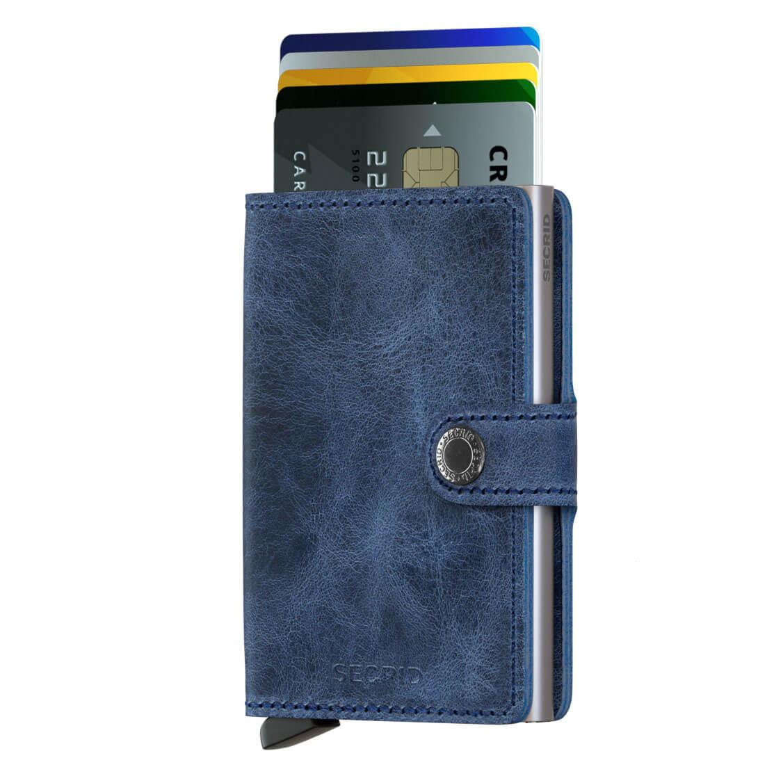 Bourse Vintage Blue Mini Portefeuille Secrid MafkJ9koY