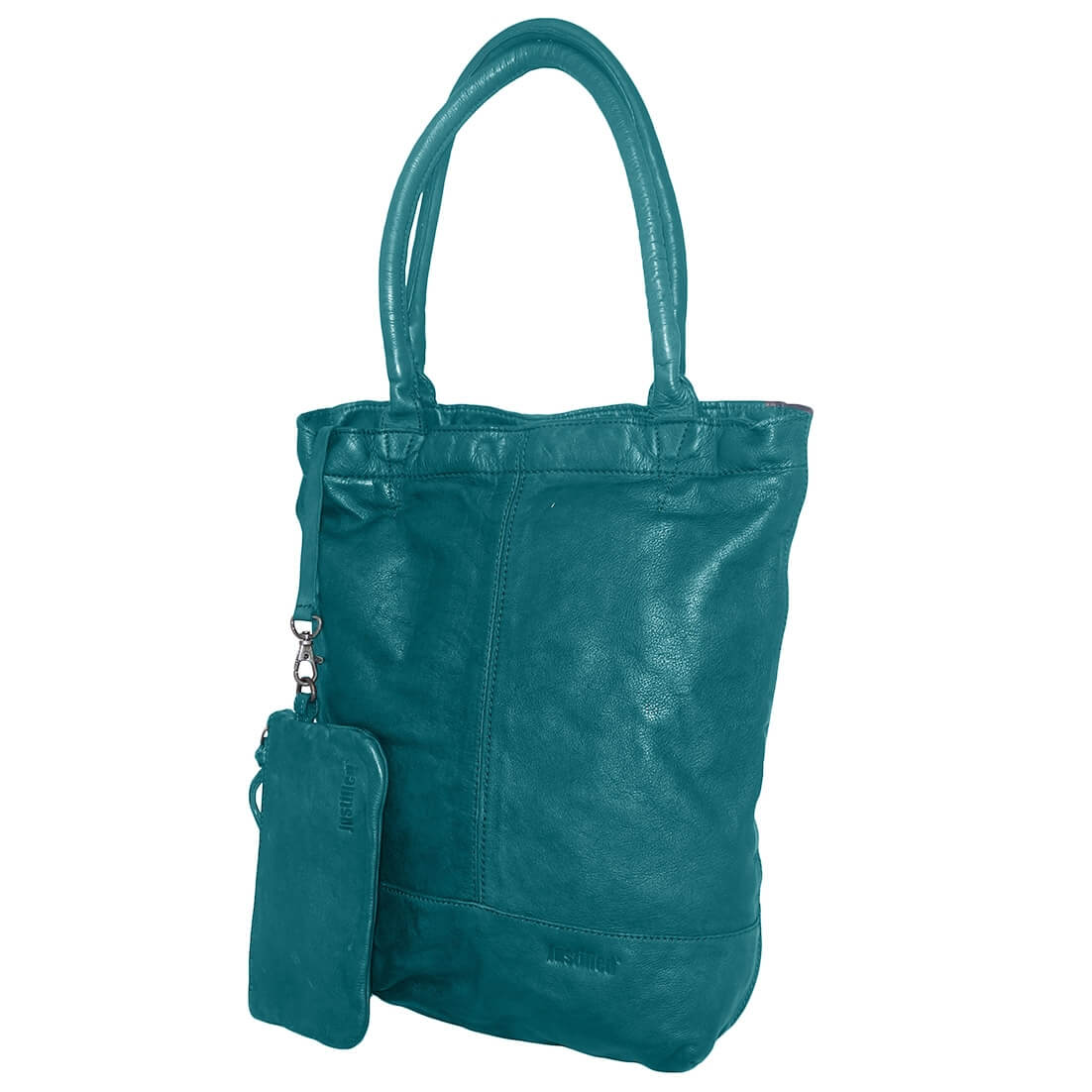 Justified Leren Shopper met Etui Turquoise