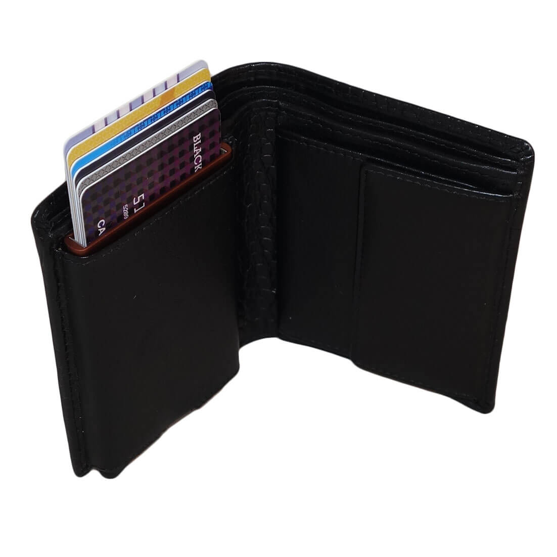 Leather Design Portemonnee met Ritsvakje en Cardprotector Vak Bruin online kopen