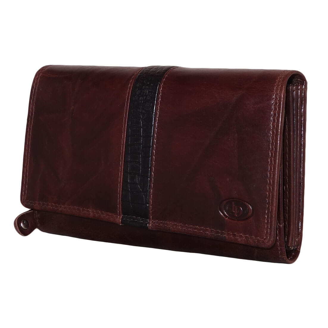 Portemonnee Leder Dames.Leather Design Dames Portemonnee Croco Bruin Online Kopen