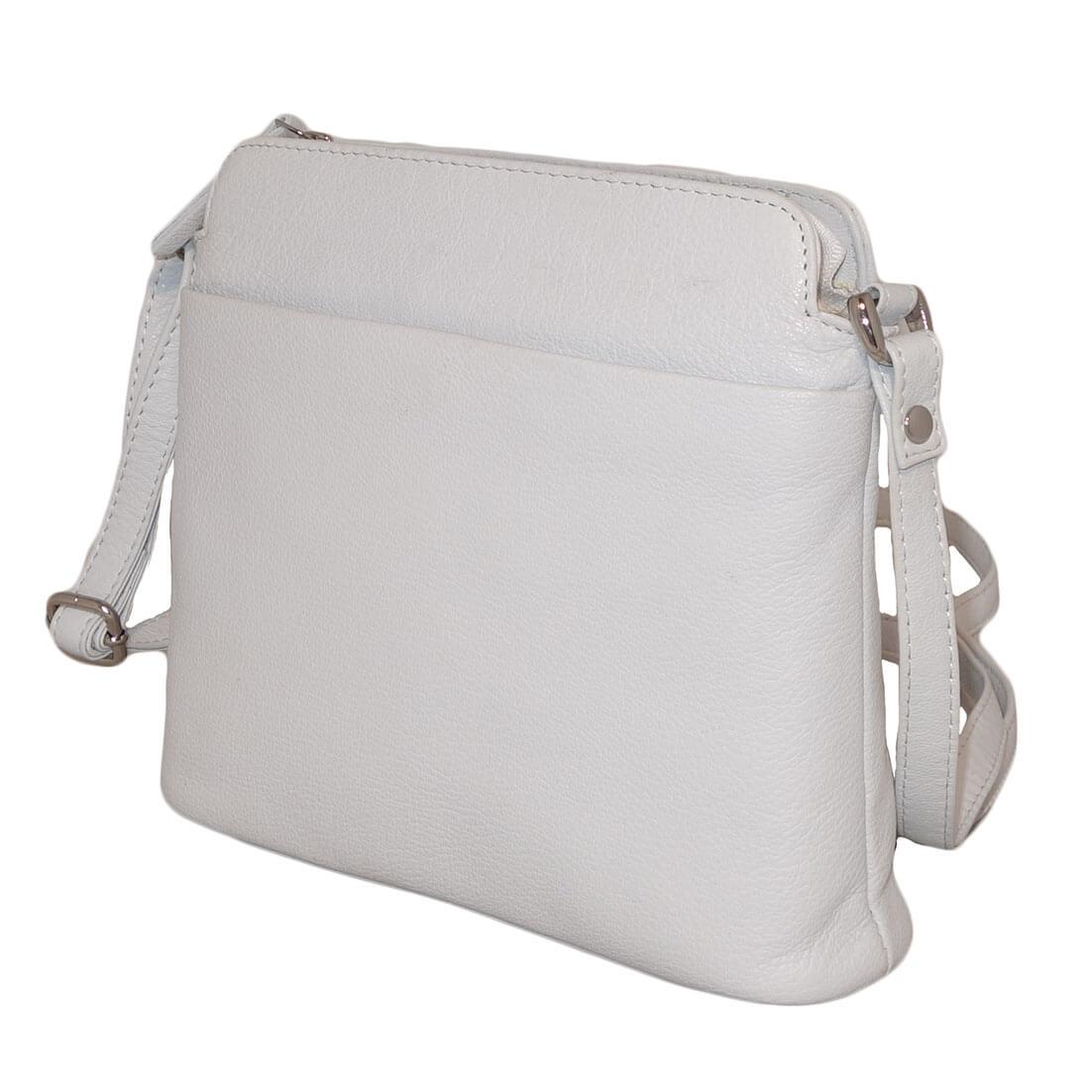 462d0c85f61 Leather Design Schoudertas Laag Wit online kopen