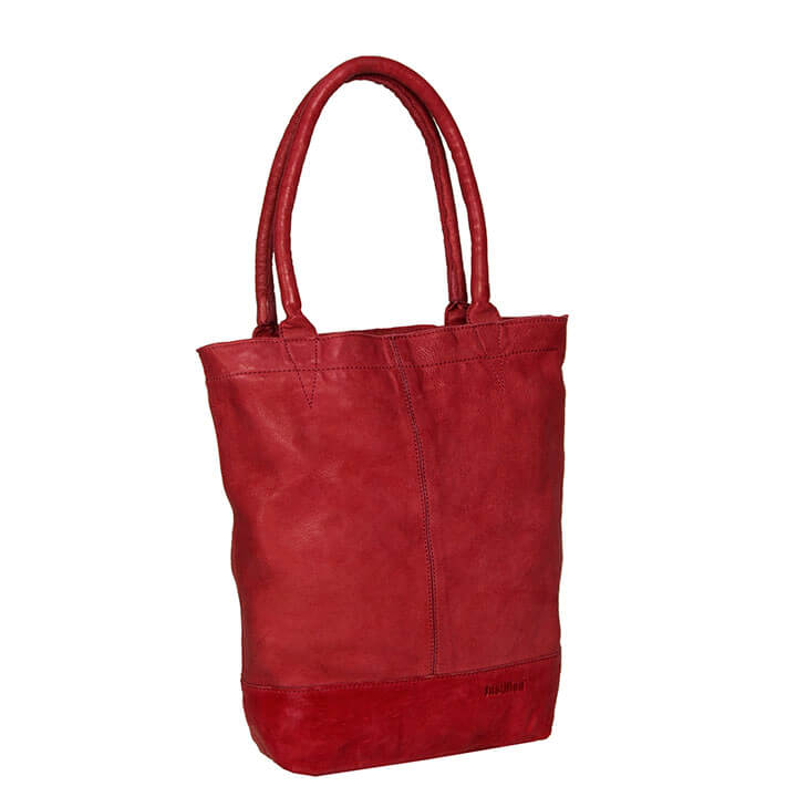 Justified Leren Shopper met Etui Bordeaux