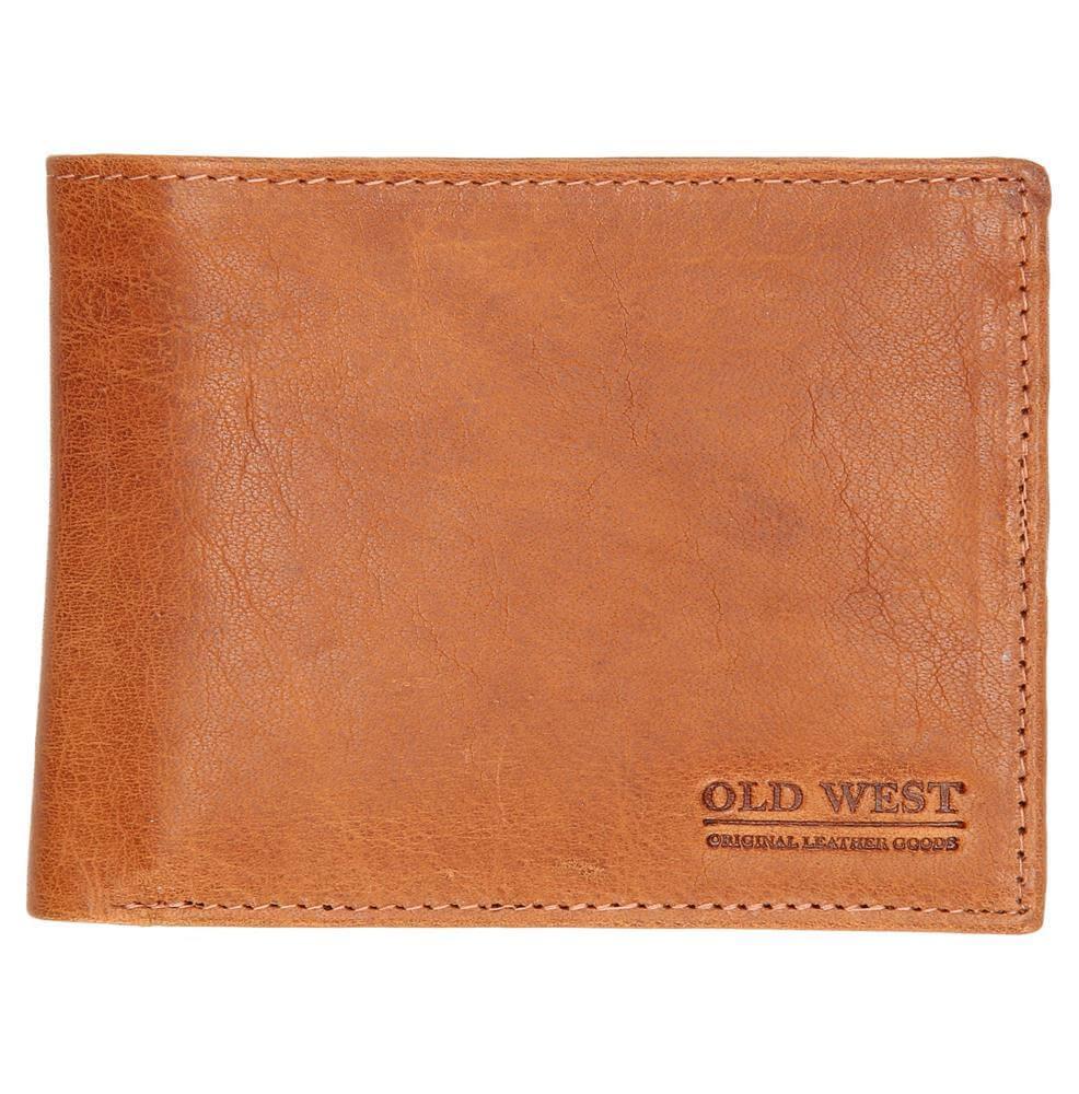a6e3d2ce422 Stoere billfold / portemonnee van Old West. Deze mooie portemonnee is  gemaakt van prachtig echt leer. De billfold beschikt over 2 vakken voor  briefgeld, ...