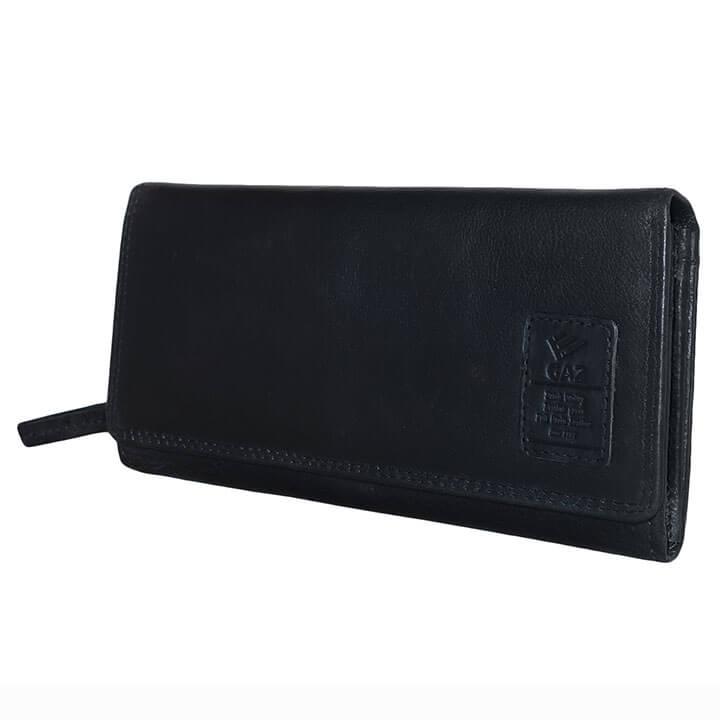 aee06ad7a30 Mooie overslag portemonnee van Gaz. Deze portemonnee heeft RFID protectie,  door de RFID protectie kunnen uw pasjes niet uitgelezen worden.