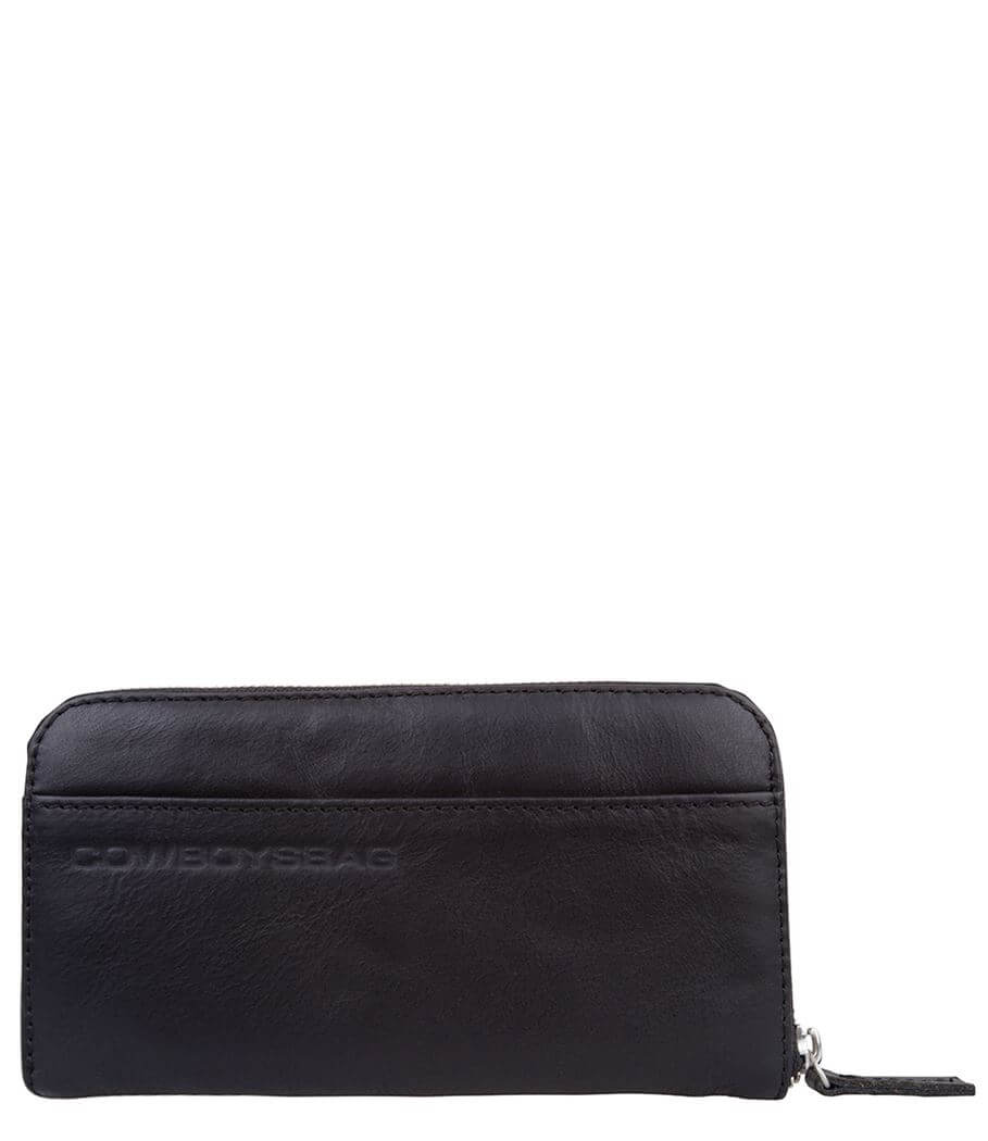 Portemonnee Zwart Leer.Cowboysbag Portemonnee The Purse Zwart Shop Online