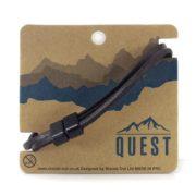 Quest Leren Armband 3 Band Donkerbruin Q24