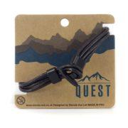 Quest Leren Armband 4 Band Donkerbruin Q22