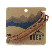 Quest Leren Armband 3 Band Lichtbruin Q21