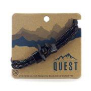 Quest Leren Armband Gevlochten Bandjes Zwart Q17