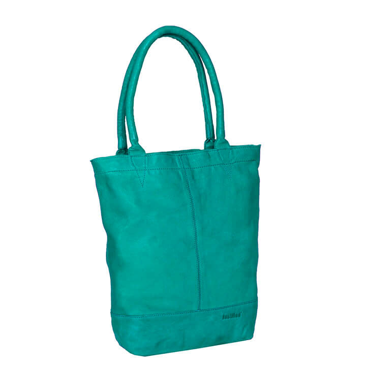 Justified Leren Shopper met Etui Turquoise