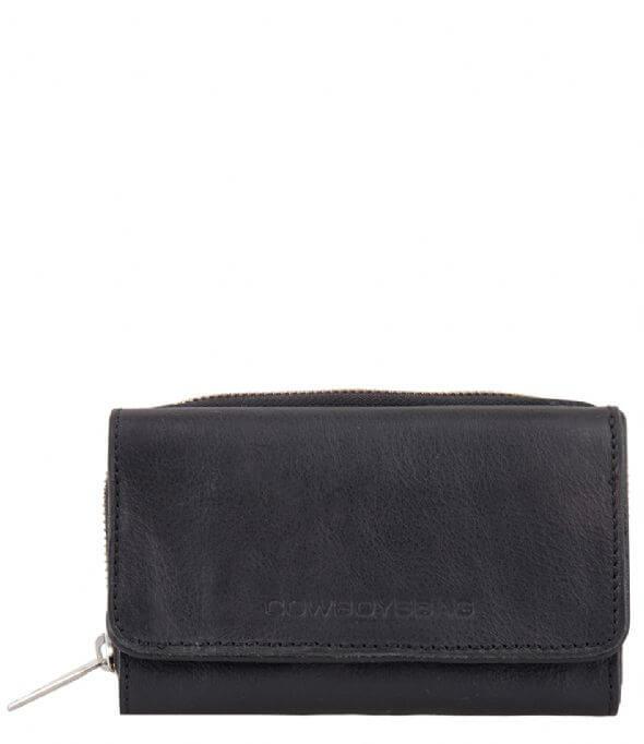 Portemonnee Zwart Leer.Cowboysbag Portemonnee Purse Warkley Zwart Shop Online