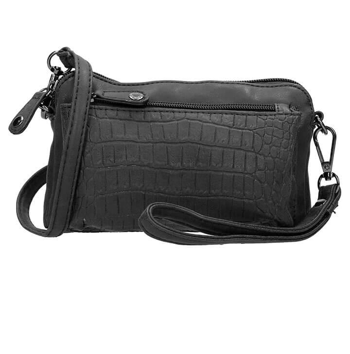 6c5ead20f09 Mooie clutch / schoudertasje van Enrico Benetti. Deze prachtige clutch is  gemaakt van mooi kunstleer. Op het voorvakje heeft het tasje een croco  print, ...