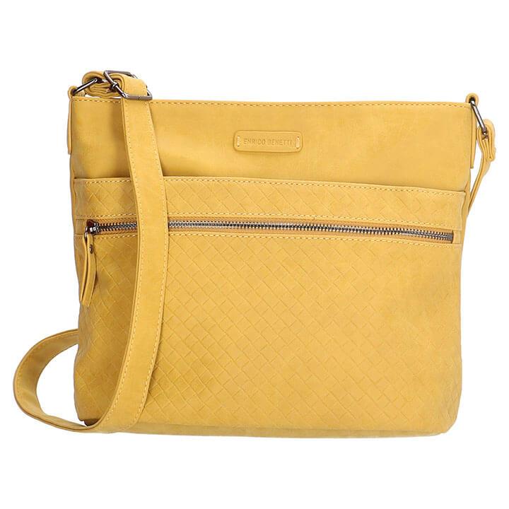 b2d153df793 Mooie schoudertas uit de Lille serie van Enrico Benetti. Deze prachtige  schoudertas is gemaakt van mooi kunstleer. Op de voorzijde heeft de tas een  ...