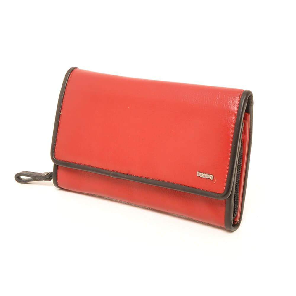 447d669ba68 Berba Dames Overslag Portemonnee Soft Rood-Zwart   Shop Online
